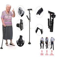 Bastone Pieghevoli Da Passeggio Per Anziani Con LED Luce Allarme