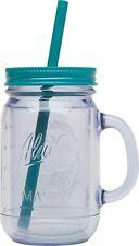 New listing 1 New Aladdin Classic Clear Insulated Mason Jar Tumbler Mug With Straw 32oz