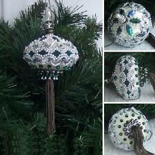 VTG STUNNING Ornament KIT Holiday Elegance in Green / Pearls Sequins Beads