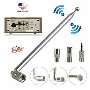 F Type Telescopic Aerial Antenna 75 Ohm with TV / 3.5 Adapter Bose-Wave Radio FM