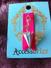 Accessorize Umbrella Charm Pink Lemon turquoise White BNWT