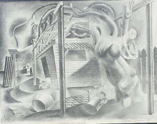 Vincent Brown (1901-2001) pencil signed lithograph titled Mulberry Tree Growing