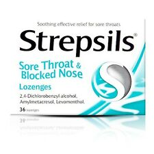 STREPSILS SORE THROAT & BLOCKED NOSE LOZENGES 36 *