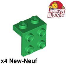 Lego - 4x Bracket support haut 90° 1x2- 2x2 vert/green 44728 NEUF
