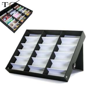 18 Grid For Sunglass Eyewear Jewelry Watches Accessories Display Case Box Tray
