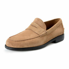 Salvatore Ferragamo Men's FERRO2 Brown Suede Leather Penny Loafers Shoes