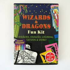 Wizards & Dragons Fun Kit: Stickers, Stencils, Coloring, Tattoos & More by Dover
