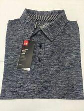 Nwt Under Armor Loose Heat Gear Golf Polo Twist Navy/Gray Shirt/Top Sz Xl