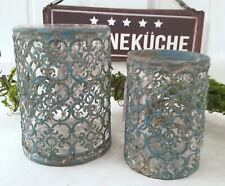 """Windlicht /""""Sternenzauber/"""" Metall 11x11cm Shabby*Teelicht-Halter*Vintage Stumpe"""