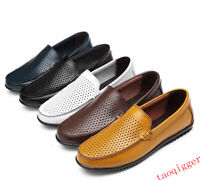Mens Slip on shoes Hollow Out Business Casual loafesr Oxfords Shoes Dress Formal