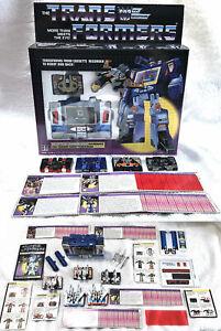 G1 1984 SOUNDWAVE & CASSETTES BOXED • 100% COMPLETE • VINTAGE G1 TRANSFORMERS