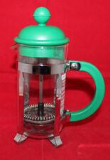 Bodum Caffettie French Press Glass Coffee Maker Clear Green 18.5 cm Tall Small
