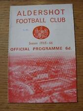 26/03/1966 Aldershot v Wrexham  (Small Pen Mark On Cover). Item In very good con