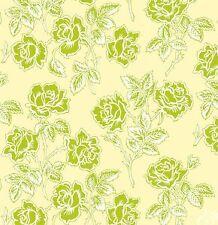 Heather Bailey Pop Garden Wallpaper Roses Ivory Fabric