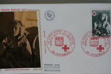 ENVELOPPE PREMIER JOUR SOIE 1973 CROIX-ROUGE