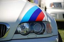 Three Color Stripe Hood Decal BMW Motorsport M3 M5 M6 X5 E30 E36 E46