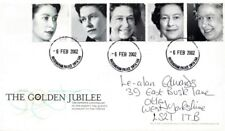 6 FEBRUARY 2002 GOLDEN JUBILEE ROYAL MAIL FIRST DAY COVER  BUCKINGHAM PALACE CDS