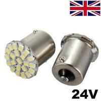 BA15S 24V White 22 LED SMD Tail Sidelight Indicator Parking Light Bulb 1156 P21W