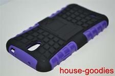 Good Protection Case Cover Stand For Samsung Galaxy S4 Durable Heavy Duty Purple