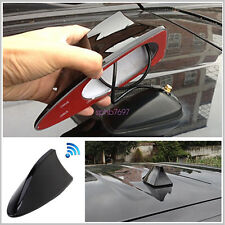 New Universal Car Roof Shark Fin Antenna Auto FM/AM Radio Decorate Aerial Black