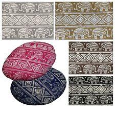 Flat Round Shape Cover*Elephant Cotton Canvas Floor Seat Chair Cushion Case*AL10