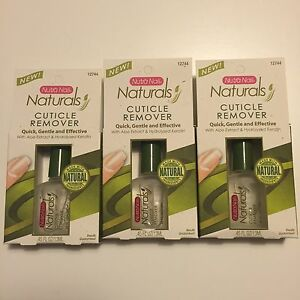 Lot of 3 NUTRA NAIL 12744 Cuticle Remover ALOE EXTRACT .45 fl oz