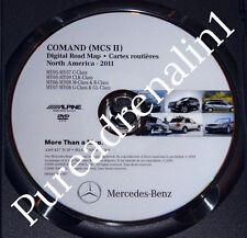 2007 MERCEDES BENZ G G500 G55 AMG NAVIGATION MCSII ROAD MAP CD DISC DVD 2011 8.0
