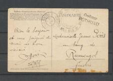 1915 CP du Cameroun Obl Libreville Gabon Griffe Croiseur POTHUAU X3744