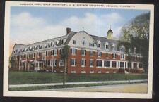 Postcard DE LAND Florida/FL  Stetson University Girls' Dormitory view 1930's