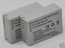 2x Battery for NB-10L NB10L PowerShot SX40 SX50 SX60 HS G1X G3X G1 G3 X G15 G16