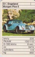 Kwartet kaart / Quartet Card / Spielkarte Cars Morgan Plus 8
