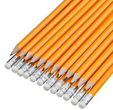 2-100 HB Pencils with Erasers Office School Home Craft Art Drawing Smooth