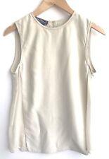 Salvatore Ferragamo Size 40 Silk Beige Sleeveless Blouse