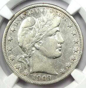 1909-S Barber Half Dollar 50C Coin - Certified NGC VF Details - Rare Date!