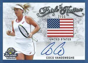 2018 Leaf Grand Slam Tennis #PN-CV1 Autographed 7/15 Coco Vandeweghe