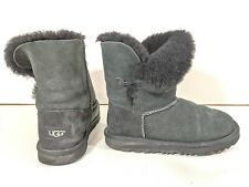Girls' UGG Bailey Button II 1017400K BLACK Boots Big Kids Girls Size 4