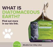 """Cat Litter """"Mindful Cat"""" from Diatomaceous earth, 1 case (4 bags - 10lb each)"""