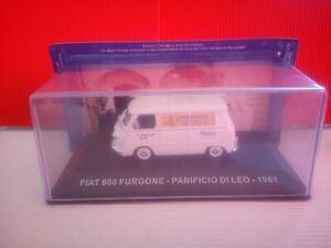 Modellino Die Cast  Fiat 600 Furgone  Panificio di Leo 1961 1/43 Nuovo