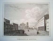 Mantua Mantova Dom Doma Italien Italia  echter  alter  Stahlstich 1842
