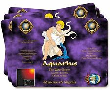Aquarius Star Sign Birthday Gift Picture Placemats in Gift Box, ZOD-11P
