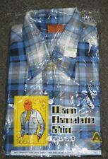 New NOS Vintage 1970's Australian Made Palena Flannelette Shirt size 16 95cm