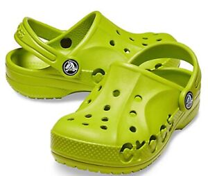 Children's Kids CROCS Baya  Clog sandals Lime Green. Boys Girls