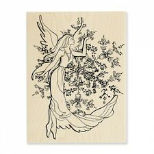STAMPENDOUS RUBBER STAMPS CRYSTAL ANGEL NEW wood STAMP