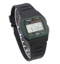 CASIO F91W-3A DIGITAL BLACK RESIN Classic Sports Alarm Chronograph WATCH NEW