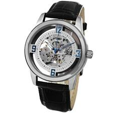 Stuhrling Original 877 01 Winchester Automatic Skeleton Black leather Mens Watch