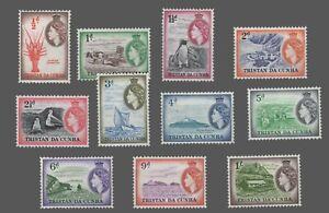Tristan Da' Cunha Scott #14-24 MVLH   1/2p to 1sh  'Scenes' 1954-56