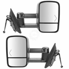 Towing Mirror Power Heated Chevron Turn Signal Pair Set for Silverado Sierra New