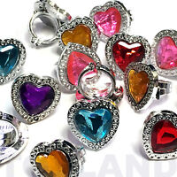 PACK OF 36 PLASTIC GEM RINGS PRINCESS TOY GIRLS PARTY BAG XMAS STOCKING FILLERS