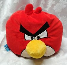 "Red Bird Angry Birds 15"" Large Pillow Bean Bag Rovio Stuffed Animal EUC Cuddly"