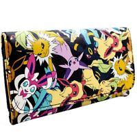 Nintendo Pokemon Eevee Evolutions Schwarz Portemonnaie Geldbörse